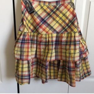 NWT American Living Cute Madras Flouncey Skirt